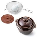 クリヤマ レンジで簡単 調理も出来る玄米炊飯セット_1.jpg